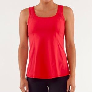 Lululemon Run: Speed Squad Tank in currant (red), size 4